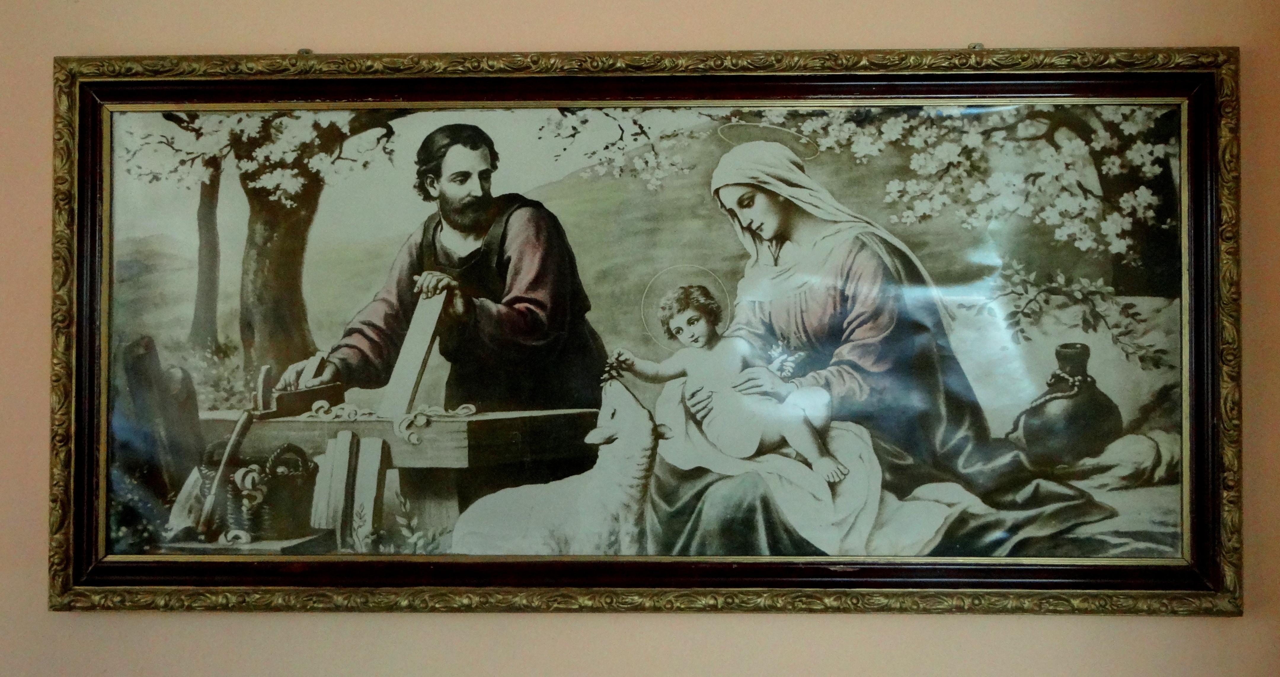 obraz pochodzący z domu w Gaju Zuzowskim -odnowiony
